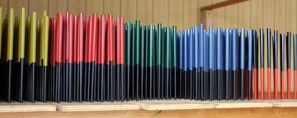 塗箸に色をつける