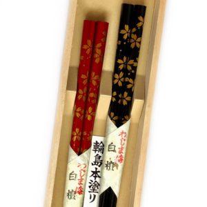 うるし箸【白檀・桜吹雪】