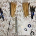 マスキングテープは、箸屋にとって無くてはならない道具です