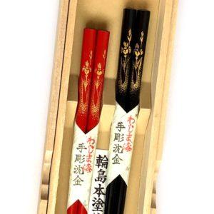 うるし箸【菖蒲とツバメ】