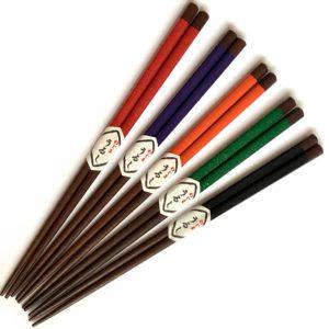 拭きうるし箸【色帯箸】