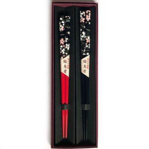 和紙箸【黒桜】