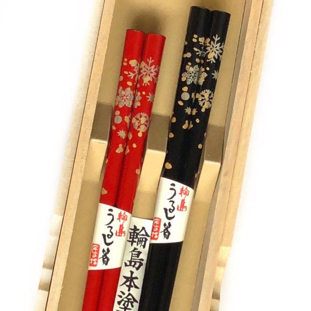 うるし箸【雪の結晶】