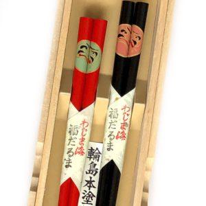 うるし箸【福だるま】